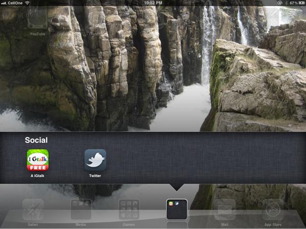 iOS Folder View
